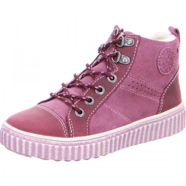 Mädchen Schnürstiefelette YOKA-TEX rosa