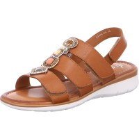 Damen Sandale Kreta cognac