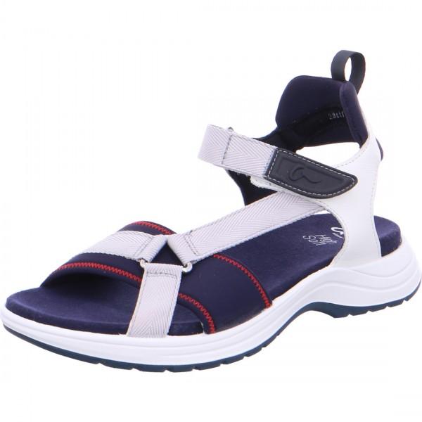 Sandale Panama blau weiß