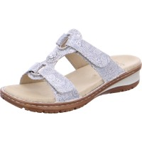 Damen Pantolette Hawaii silber