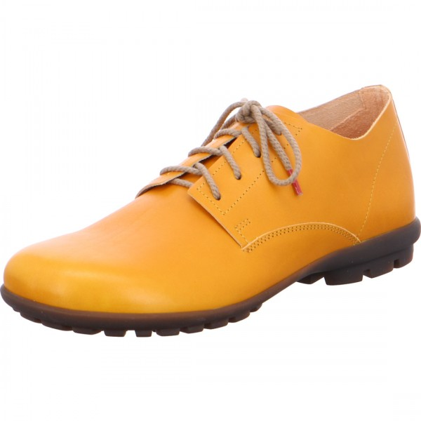 Lace-up Kong saffron