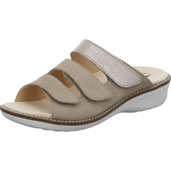 Pantolette Hera taupe altgold