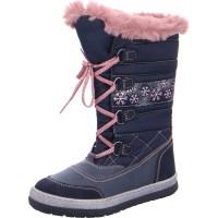 Mädchen Schneestiefel ALPY-TEX blau rosa