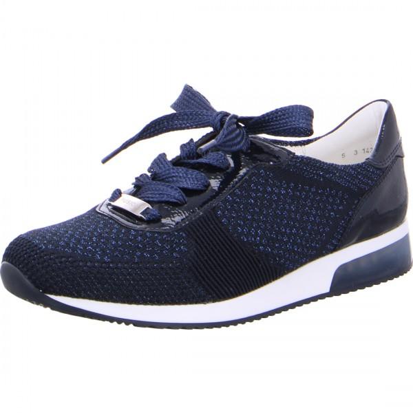 Damen Sneaker Lissabon blau-metallic