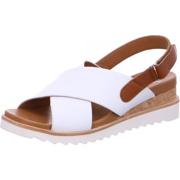 Sandales compensées Valencia blanc