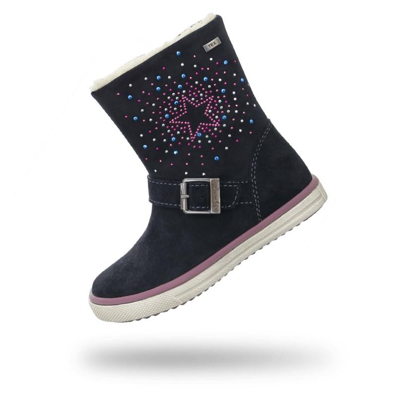 Details zu Kinder Schuhe Kinderschuhe Stiefel Boots Mädchen Schwarz Gr 25 gefüttert Glitzer