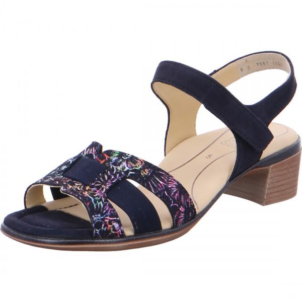 Heeled sandals Lugano blue multi