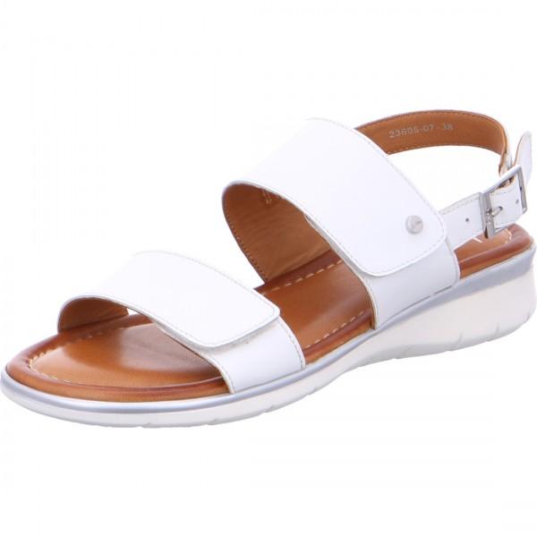 Damen Sandalette Kreta weiß
