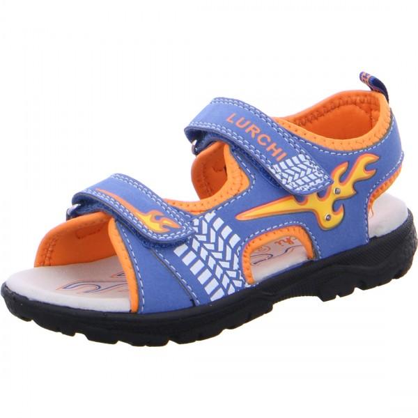 Jungen Sandale KUBY dunkelblau-orange