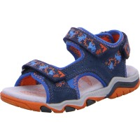 Jungen Sandale BRIAN blau-orange