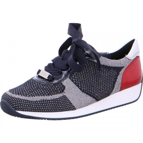 Sneaker Lissabon metallic-blau-rosso
