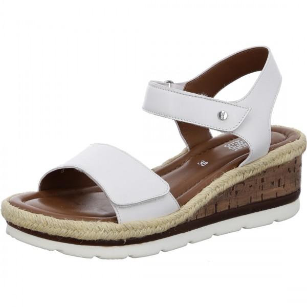 Sandales compensées Cadiz blanc
