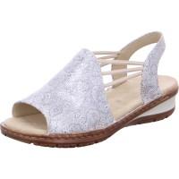 Damen Sandale Hawaii silber