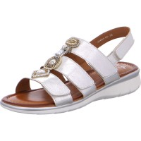 Damen Sandale Kreta weissgold