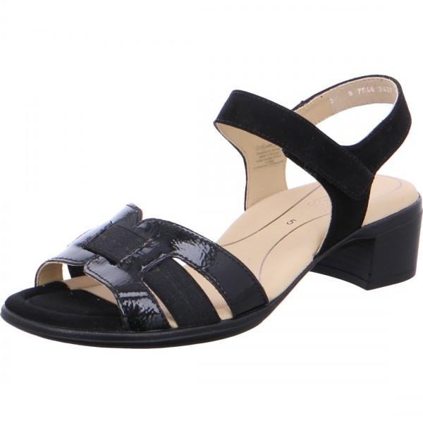 Heeled sandals Lugano black