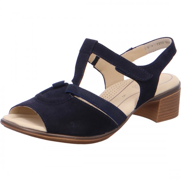 Heeled sandals Lugano blue
